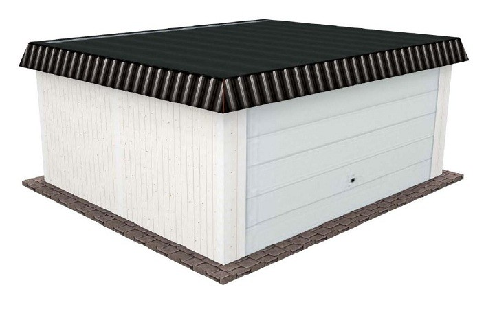 Beispiel 11 Premium Flachdach Carport