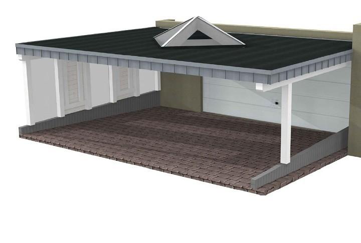 Beispiel 6 Premium Flachdach Carport