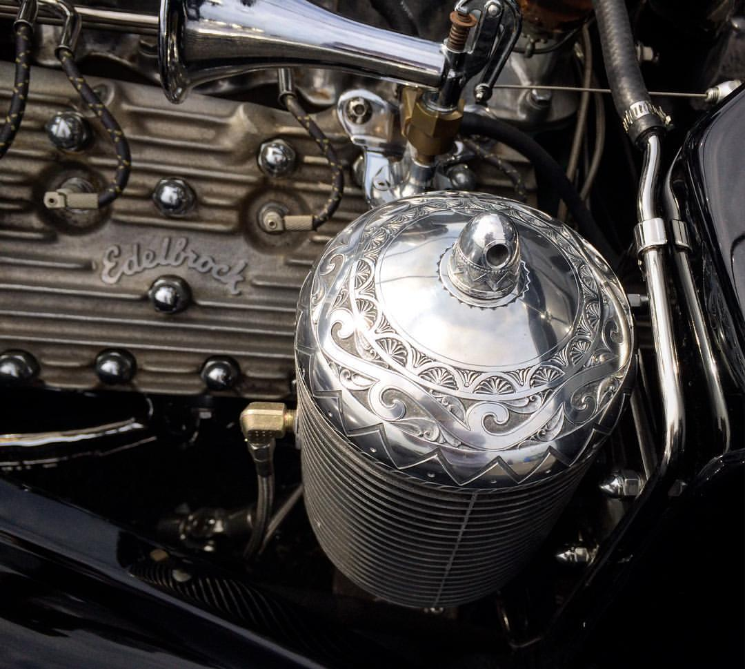 エングレービング ローライダー engraved oilfiltercap for 1936 ford la pistrla lowrider 彫金