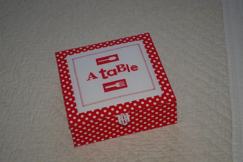 boite à serviette de elisabeth
