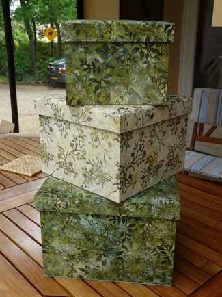 boite cigognes coordonnés de tissus japonais