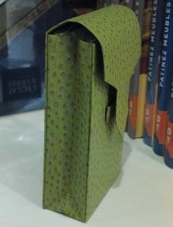 porte mouchoir de sac vert olive