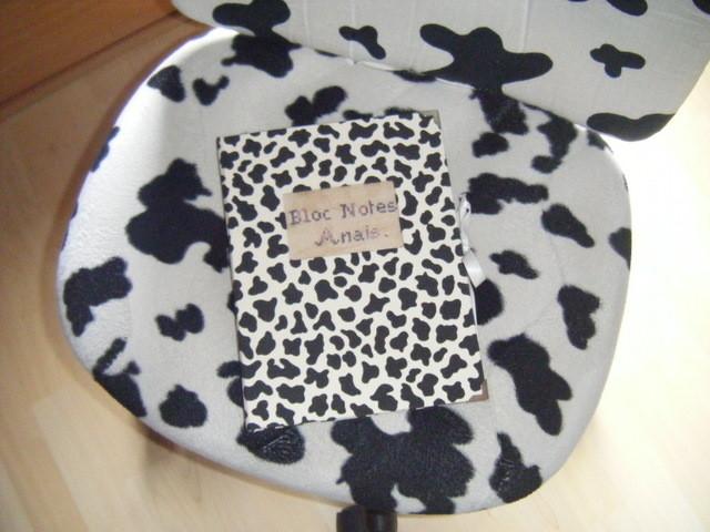 petit carnet tissu vache