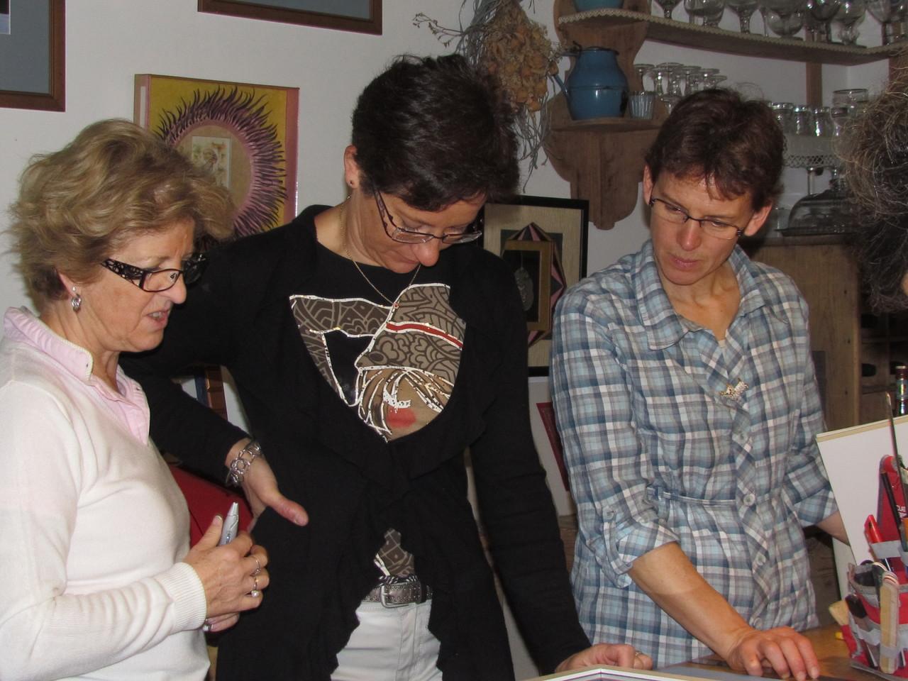 les 3 complices christiane, sylvie et notre petite charlène
