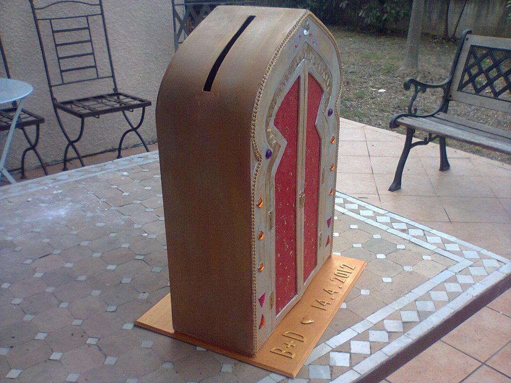 urne de mariage faite par christine