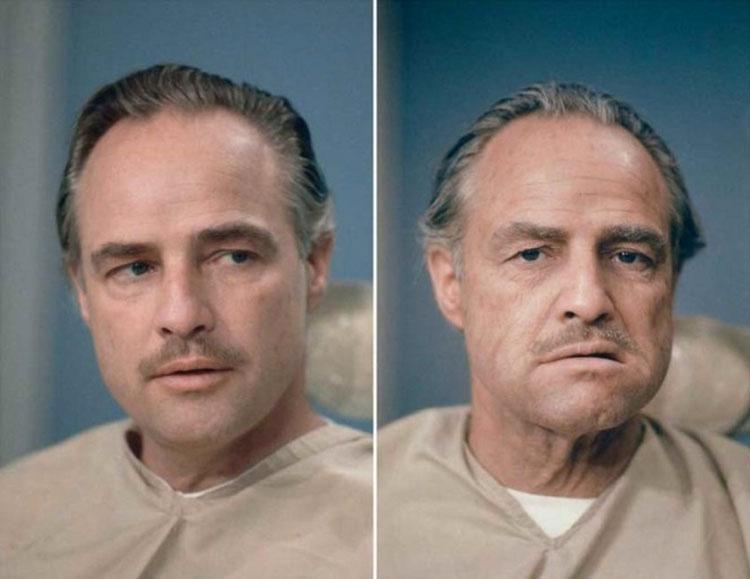 Maquillaje de Marlon Brando para El Padrino