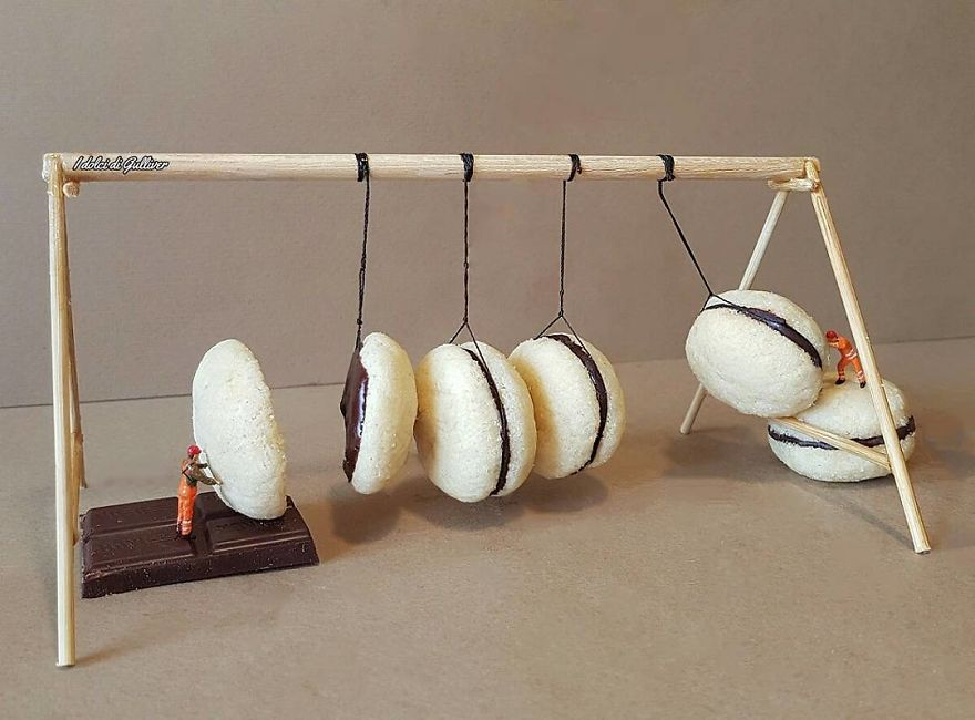 Pastelero italiano construcciones miniatura