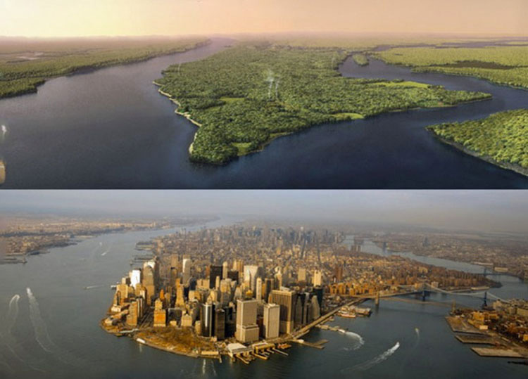 Manhattan antes y ahora