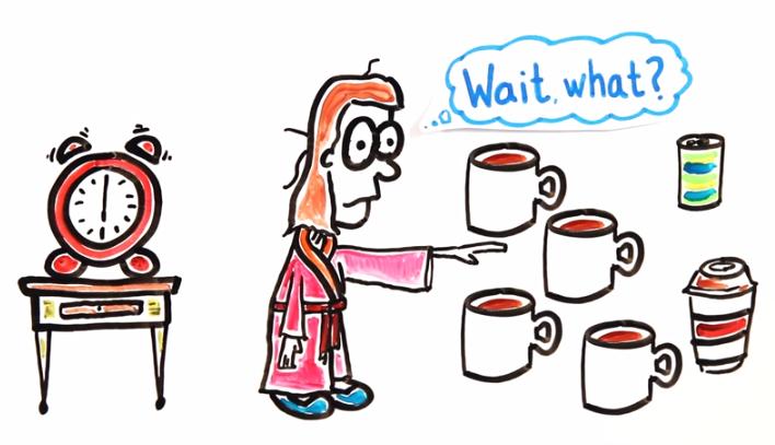 Es malo tomar café recién despertados