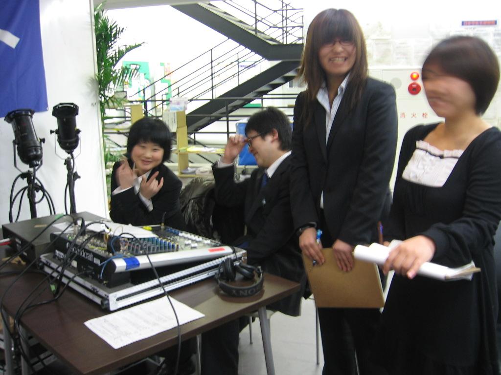 大会に協力してくれた学生サークル、THK筑波放送協会
