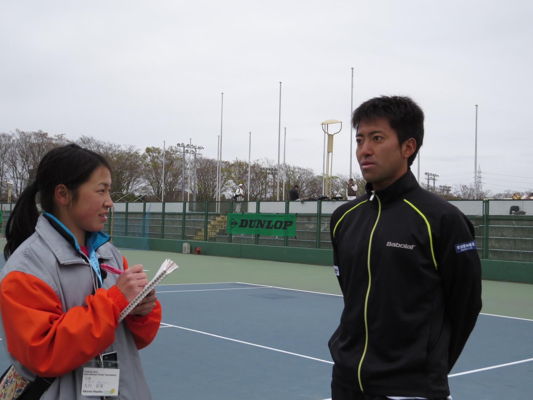 インタビューの様子 仁木拓人選手