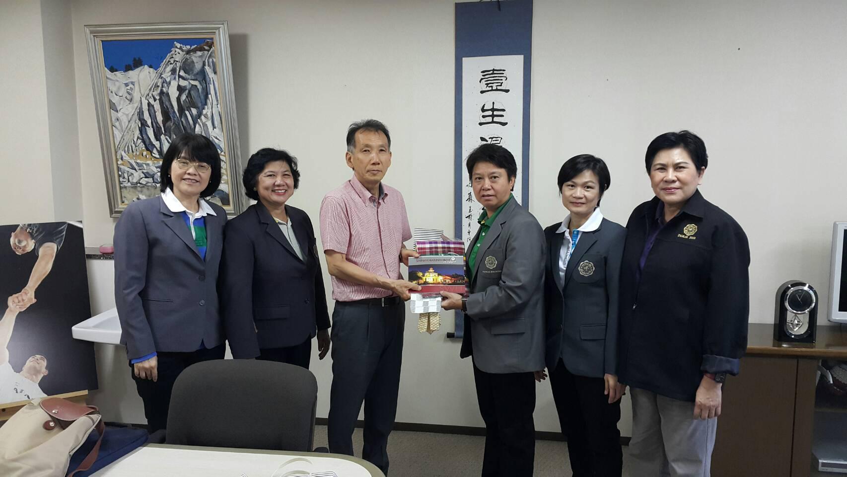 今回の訪問をコーディネートした体育センター長、山田幸雄教授