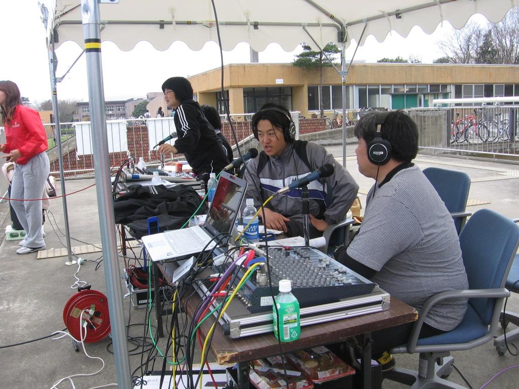 FM放送による実況中継
