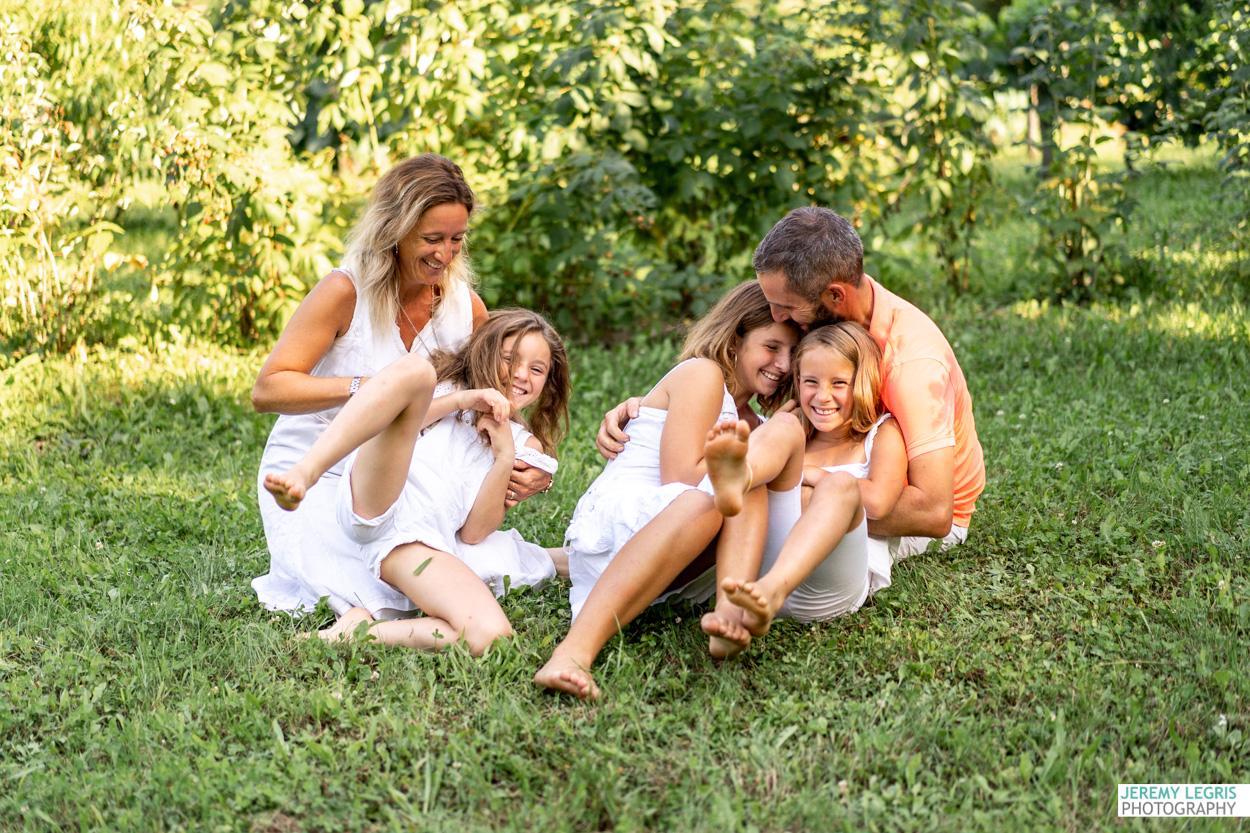 Séance photo Famille - Sandra, Sébastien, Maëlle, Margot et Romane