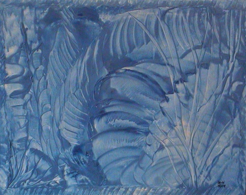 Nr. 24 - Blaue Lagune 50x40cm - 400 €