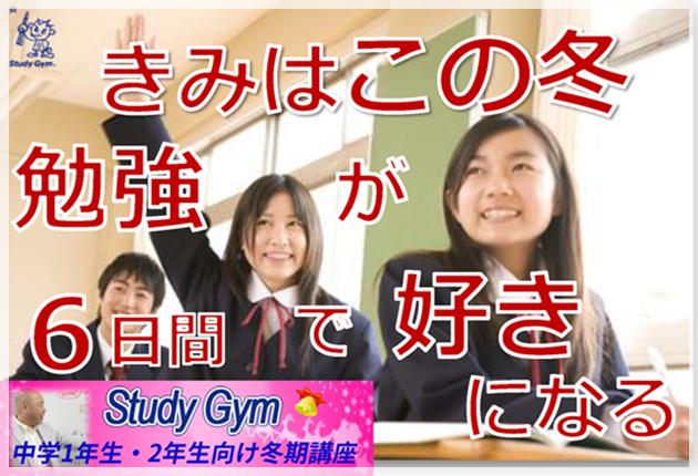 この冬6日感で勉強が好きになる Stuudy Gym冬期講習