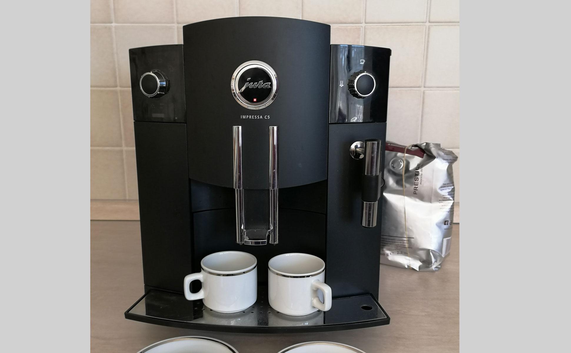 Kaffeevollautomat Detailansicht © Ferienwohnung Spilinga | Tropea | Kalabrien - Casa Belle Vacanze