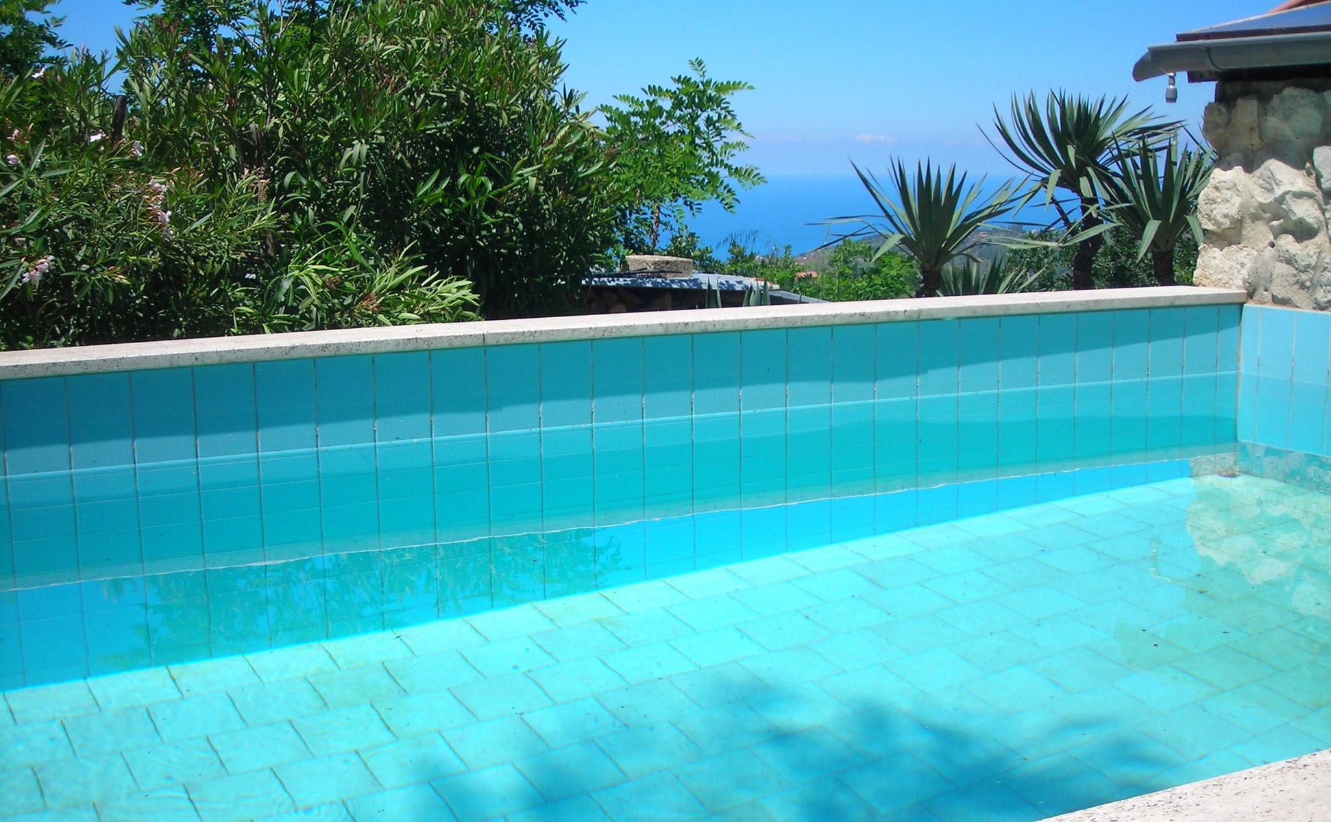 Außenpool © Ferienwohnung Spilinga | Tropea | Kalabrien - Casa Belle Vacanze