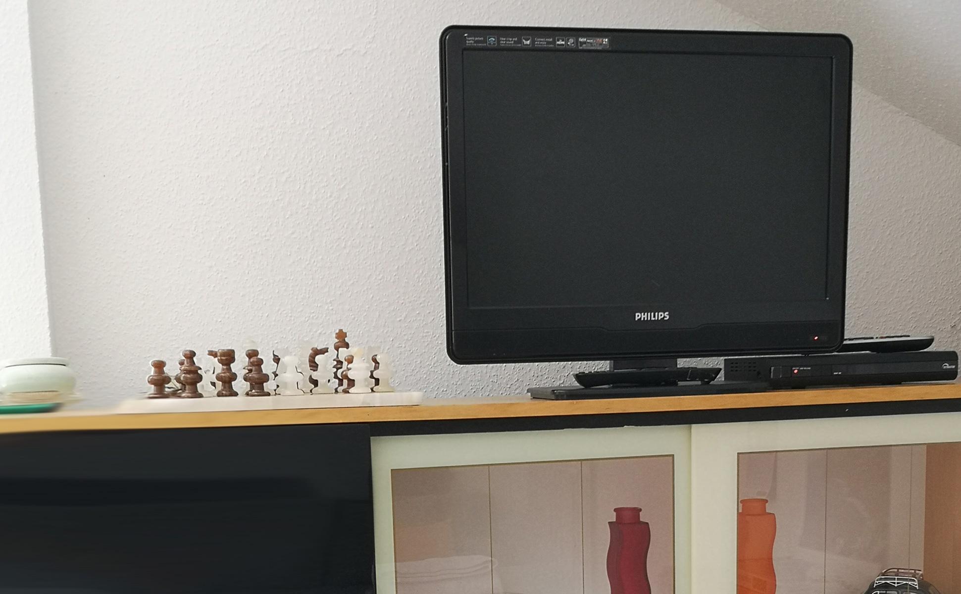 Wohnzimmer Fernseher Detailansicht © Ferienwohnung Spilinga | Tropea | Kalabrien - Casa Belle Vacanze