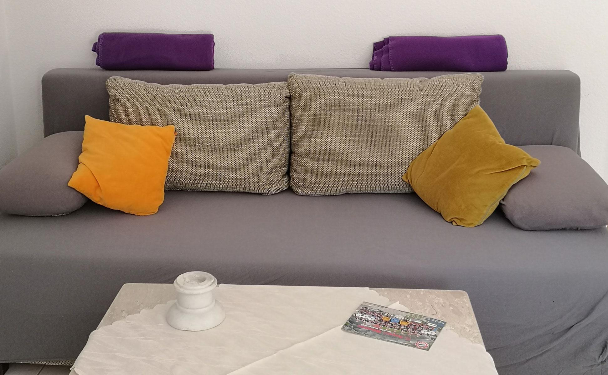 Wohnzimmer Sofa Detail © Ferienwohnung Spilinga | Tropea | Kalabrien - Casa Belle Vacanze