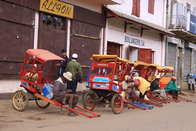 Antsirabe, la ville aux pousse-pousse