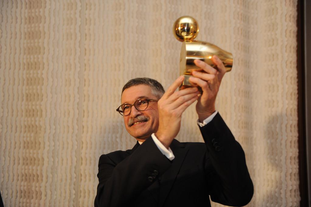 Dr. Gunter Hauptmann mit Goldener Ente