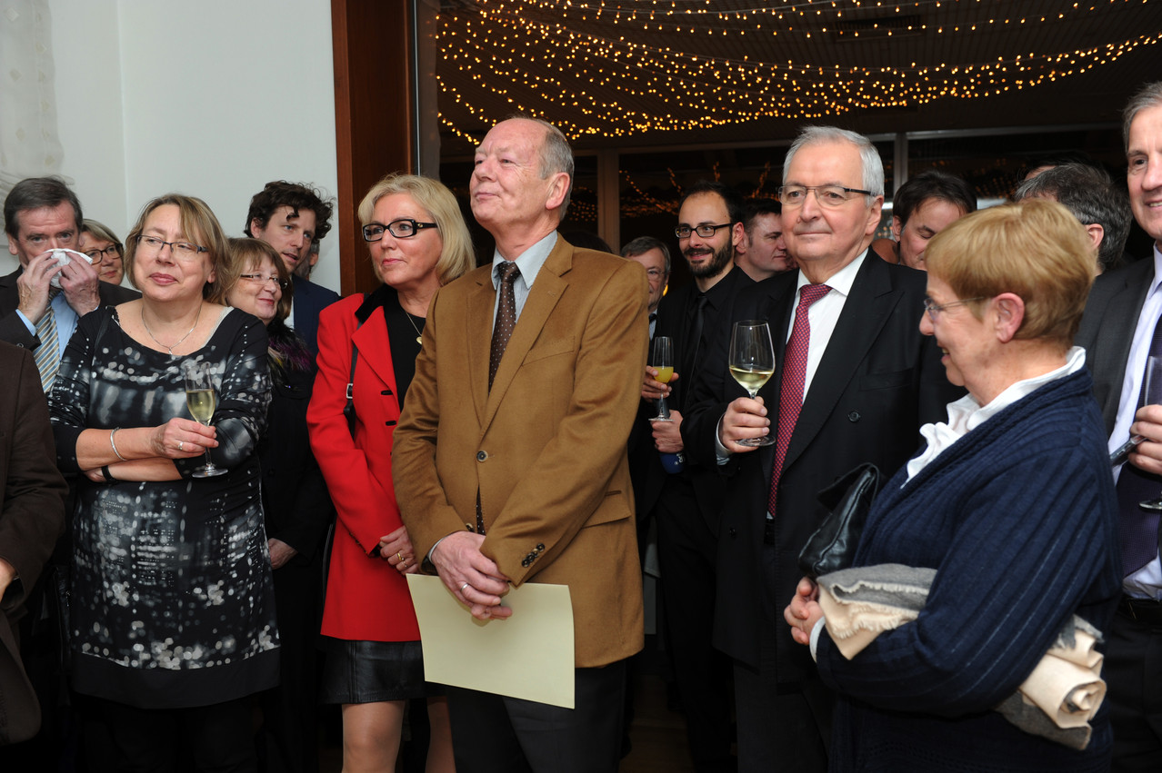 Gabi Hartmann, Ulrike Klös, Ulrich Hauck, Ehepaar Plaetrich, Marc Hoffmann, Ehepaar Töpfer, Jo Leinen