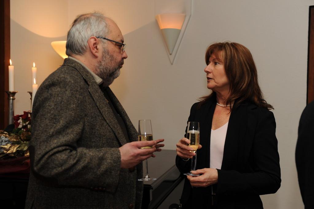 Empfang: Jean-Claude Wolf, Margit Strzalko