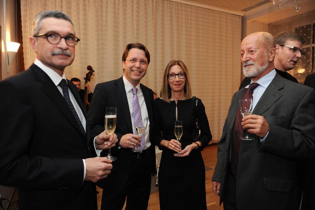 Dr. Gunter Hauptmann, Peter Hauptmann, Annemarie Hauptmann, Georges Wagner-Jourdain
