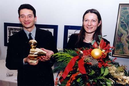 Laurent Brunner und Sylvie Hamard, Preisträger der Goldenen Ente im Jahr 2000