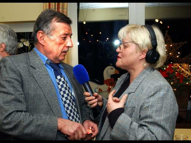Ottmar Schreiner im Interview mit Reporterin Ulli Wagner