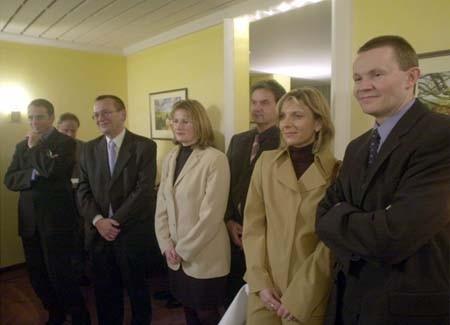 Detlef Esslinger, Preisträger Raimund Weyand, Richterin Cornelia Klam, Michael Thieser, Birgit Sieren-Kretzer (stellvertretende Pressesprecherin der Staatsanwaltschaft Saarbrücken) und ihr Mann Martin Kretzer