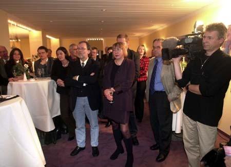 Axel Buchholz, Marie-Luise Bersin, Burhard Jellonnek (Preisträger 1992), Anette Reichmann, Norbert Klein, Volker Hildisch, Daniel Mollard, Gabi Hartmann, Marlene Grund, Michael Jungmann, SR-Kameramann Dieter Niggemeyer