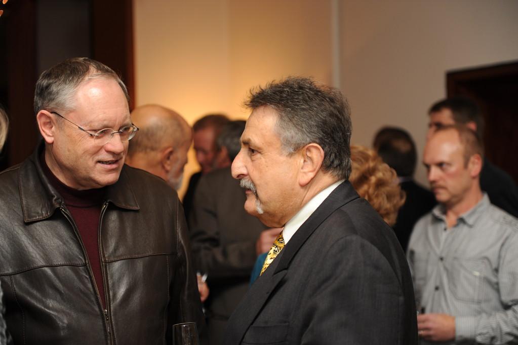 Empfang: Hajo Hoffmann, Roland Lorenz, Thomas Brück