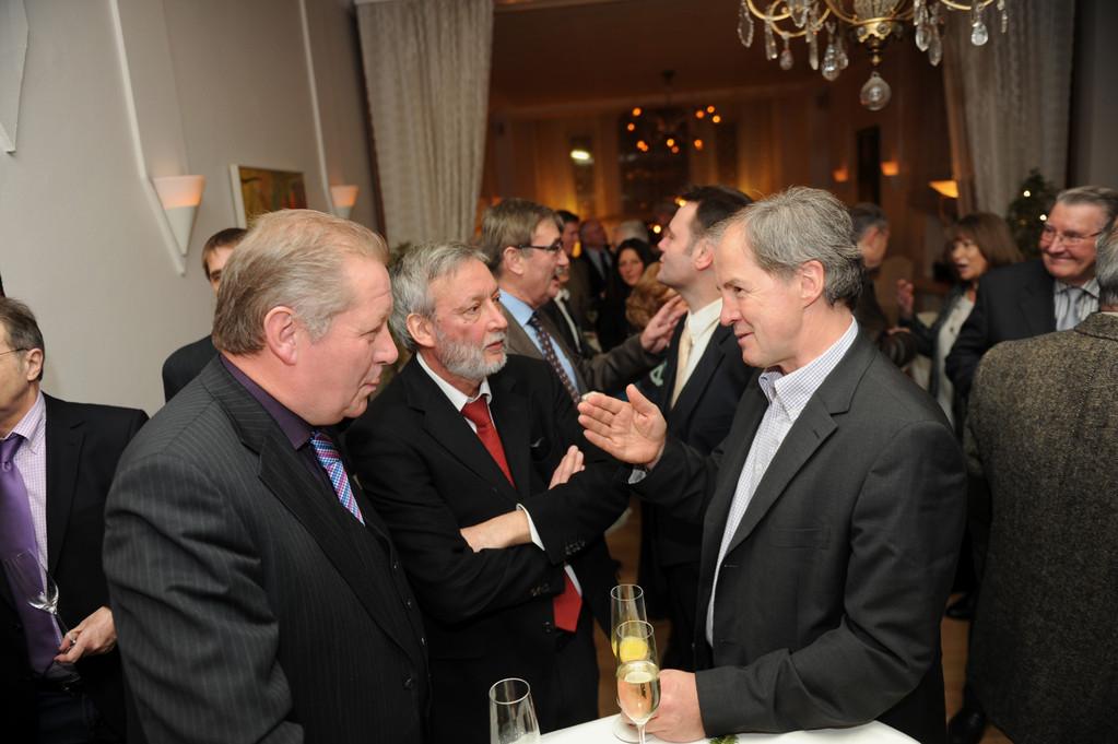 Empfang: Lothar Warscheid, Georg Brenner, Rolf Linsler, J. Dieter Maier, Jo Leinen