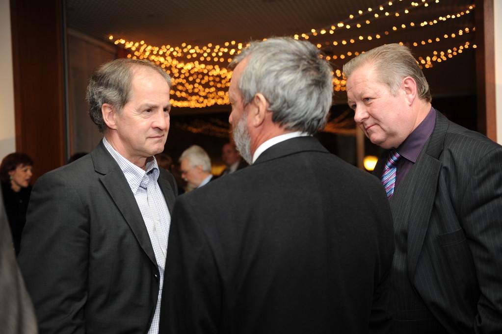 Empfang: Jo Leinen, Georg Brenner, Lothar Warscheid