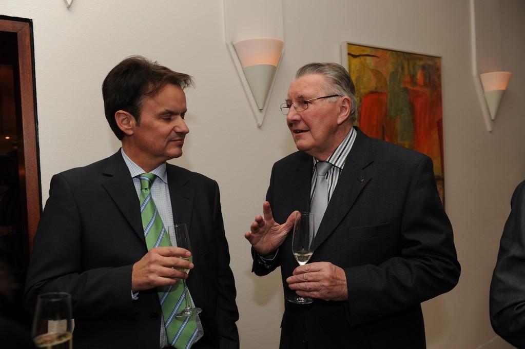 Empfang: Michael Thieser, Prof. Heinrich Schüssler