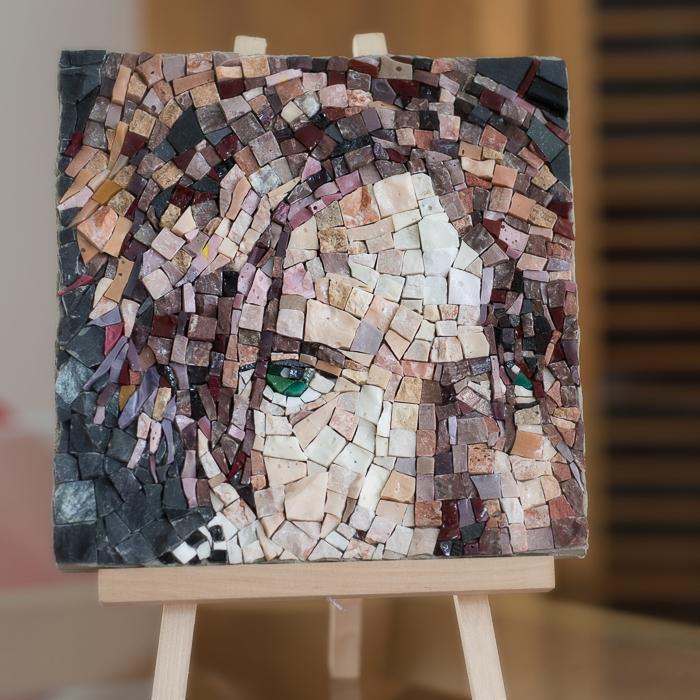 David Bowie, david bowie portrait, david bowie portrait mosaic, david bowie porträt mosaik, bowie mosaic, bowie mosaik berlin, francesca macherone, francesca macherone mosaico, francesca macherone mosaik, lacamerachiara, la camera chiara, mosaik studio