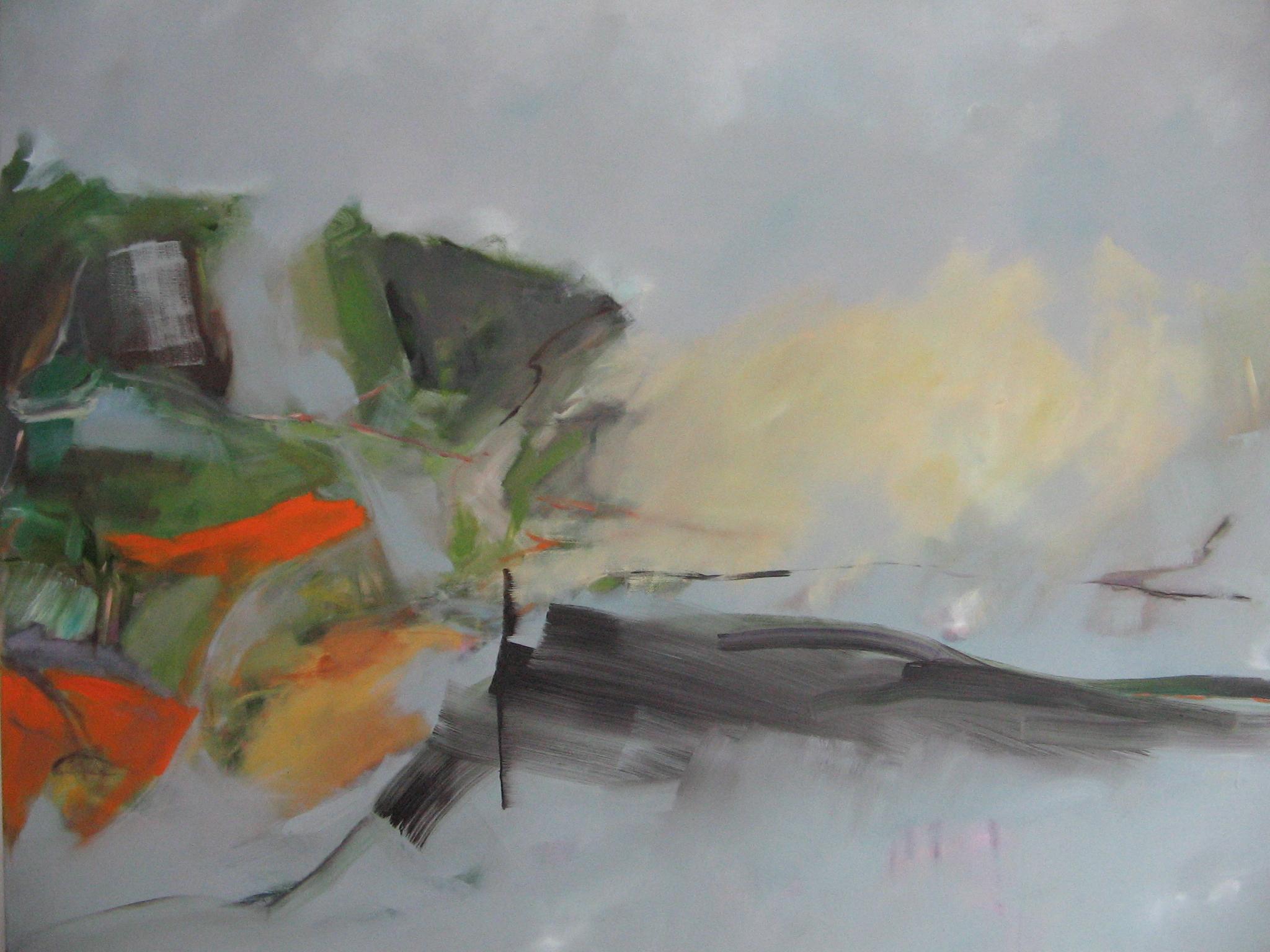 Am Ufer, 2012, 120 x 150 cm, Öl a.L.