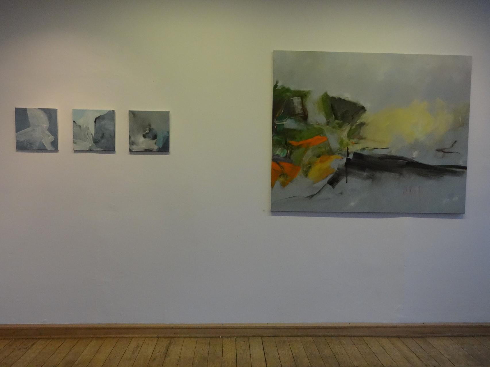 """""""Fährtensuche II"""", Künstlerbahnhof Ebernburg, 2013"""