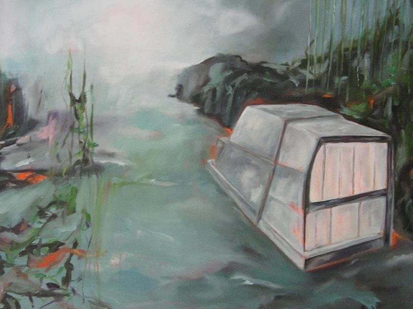 Arche, 2012, 80 x 100 cm, Öl u. Acryl a.L.