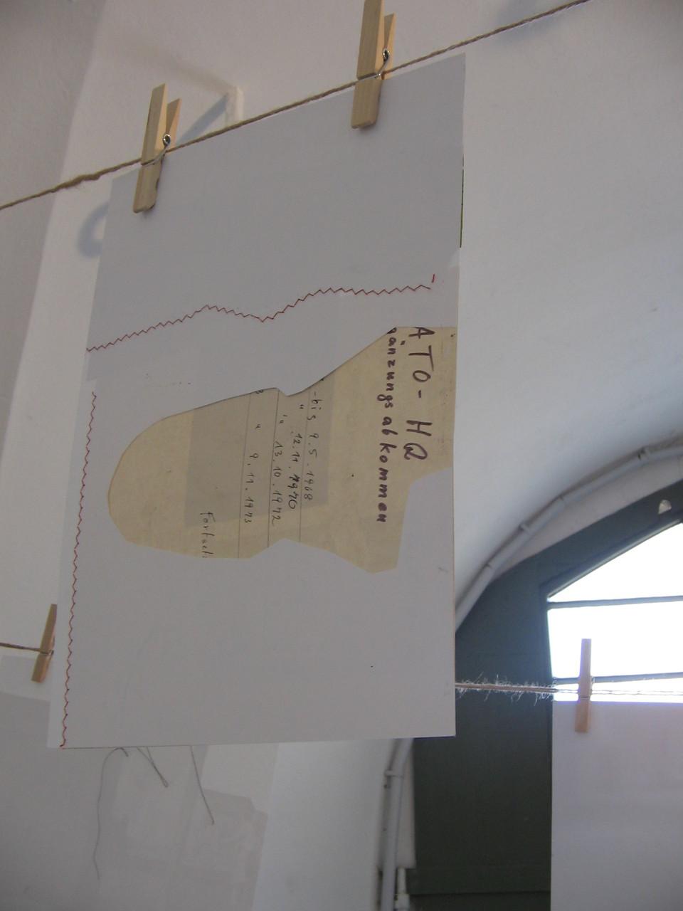 """""""Erinnerung"""", Rauminstallation, 2008, Festung Ehrenbreitstein, Koblenz"""