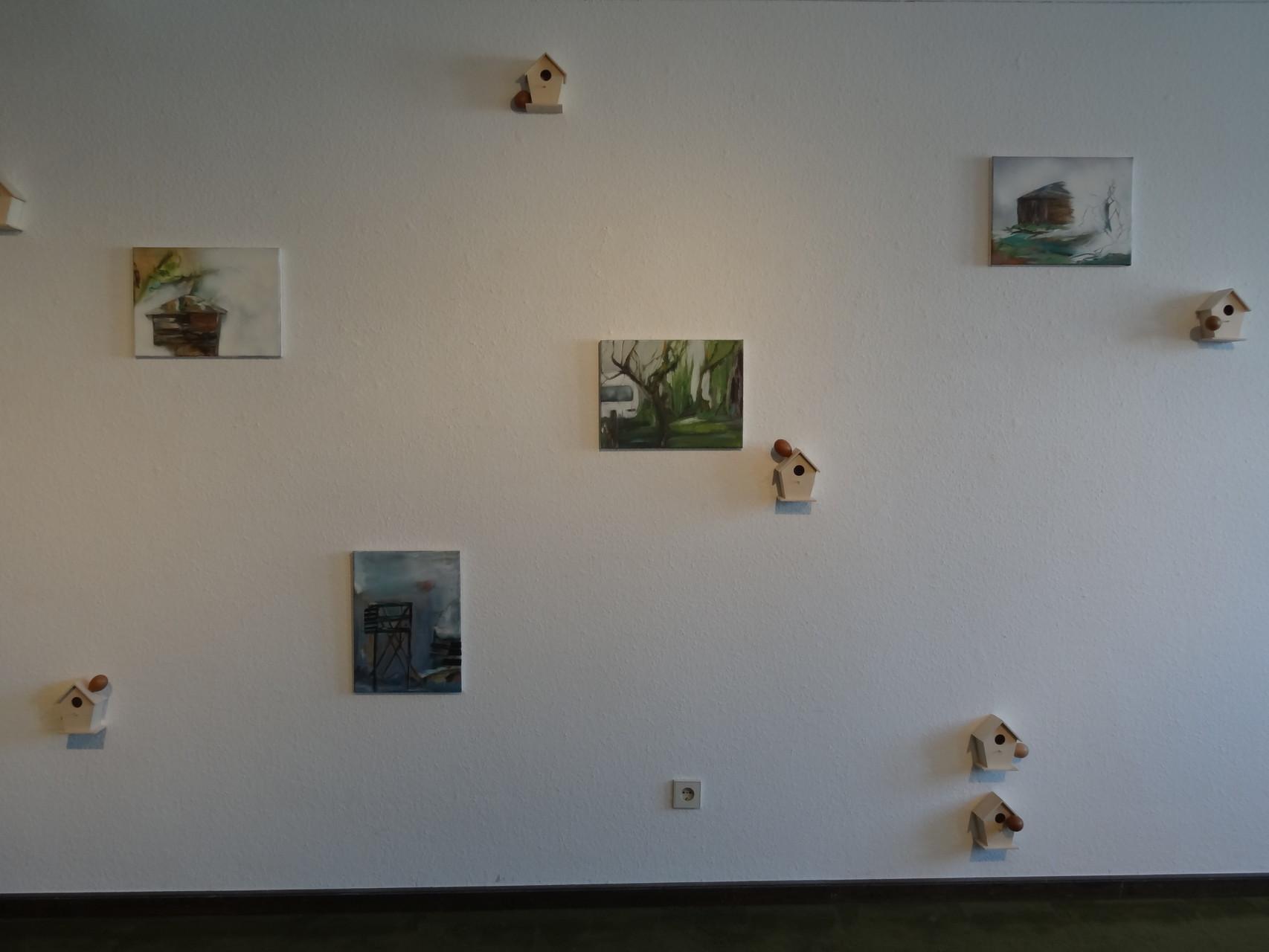 """""""Sweet home"""", gemeinsame Installation mit der Künstlerin Barbara Gröbl, 2015"""