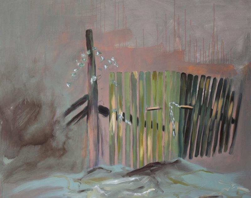 Entrance, 2012, 120 x 150 cm, Öl u. Acryl a.L.