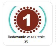 dodawanie w zakresie 20 - połącz w pary liczby tak, by po dodaniu wynik był równy 20