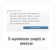 kliknij w każdej linijce na powtarzający się wyraz