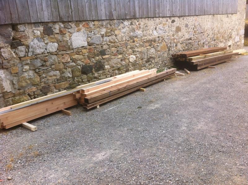 Le bois a été livré