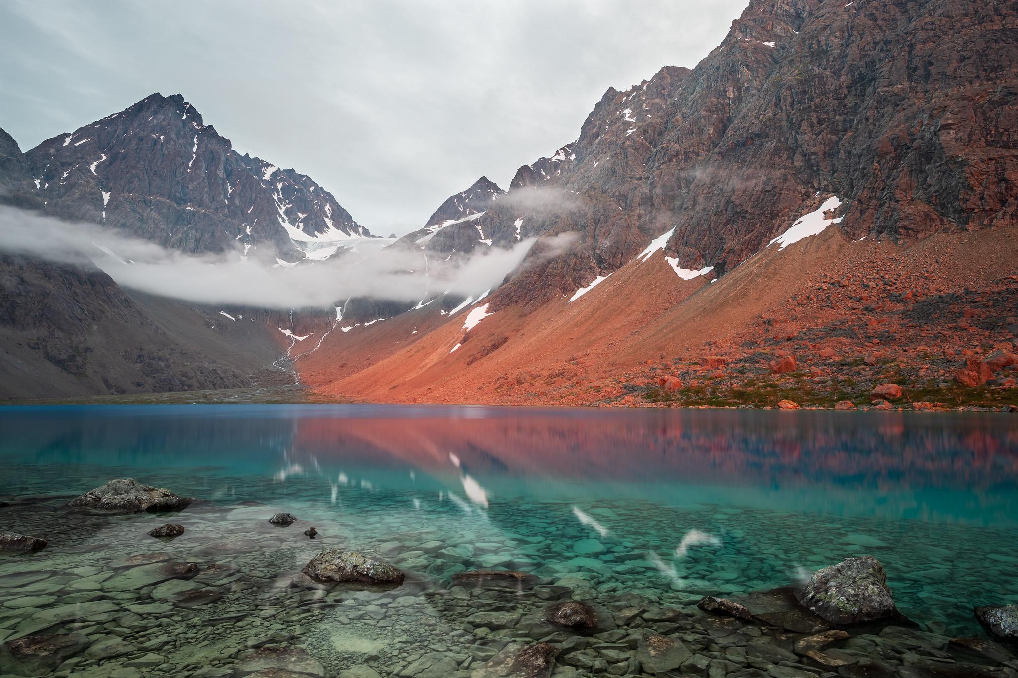 Blåisvatnet  mit Alpenglühen