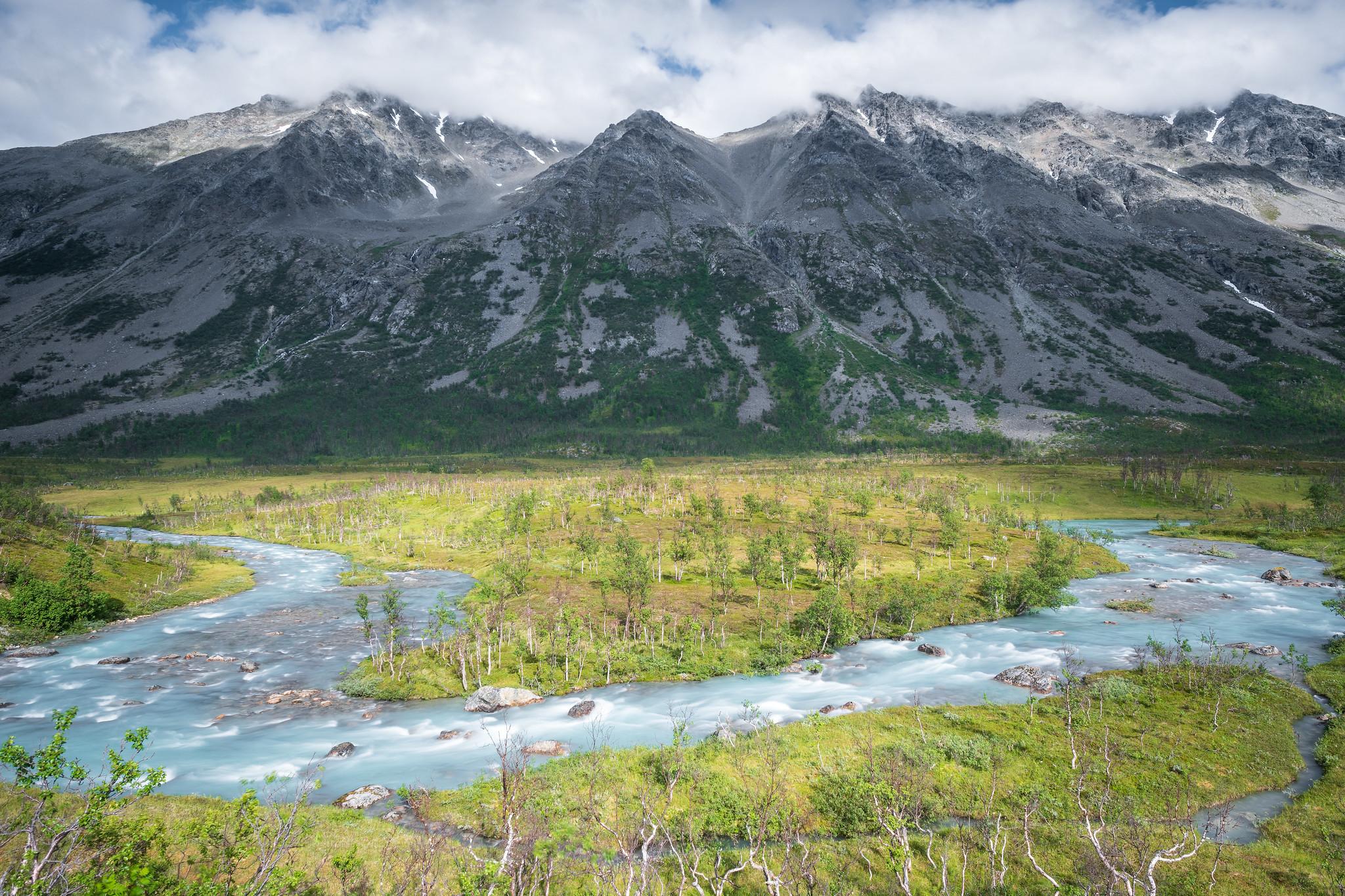 Wilder Gletscherfluss
