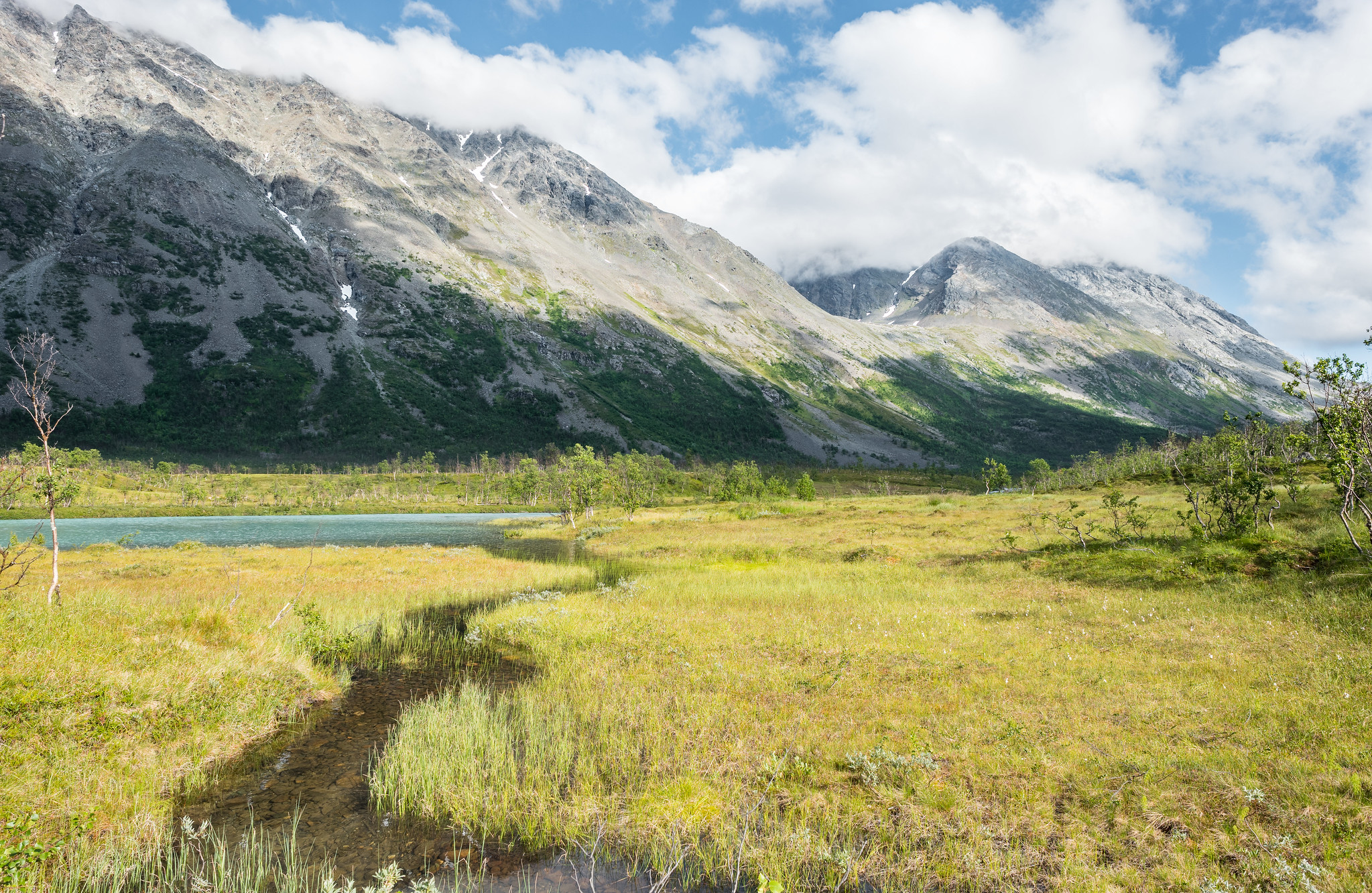 Trogtal zwischen Gletscher und Fjord